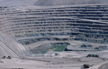 Coppermine Chuquicamata, Chile picture by Reinhard Jahn, Mannheim.